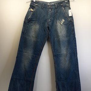 Men's Blue Blood 36 x 34 Destructed Jeans